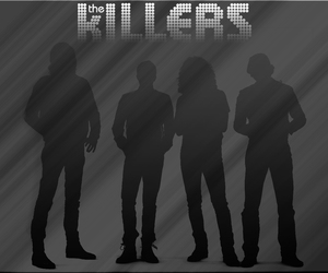 background, bands, and brandon flowers image