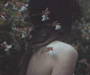 flowers, grunge, and sad image