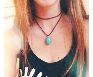 boho, brunette, and choker image