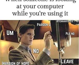 computer, doctor who, and go away image