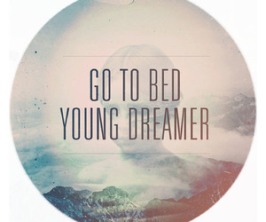 dreamer, young, and bed image