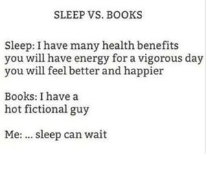books, sleep, and fandom image