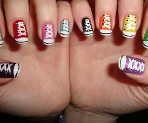 chaussures, couleurs, and nail art image
