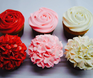 cupcakes, flowers, and pink image