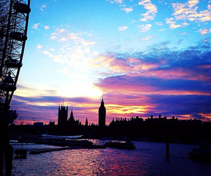 Big Ben, london, and sunset image
