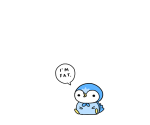 fat, cute, and penguin image