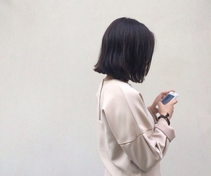 asian, girl, and dark image