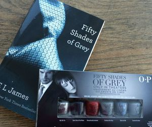 book, opi, and fifty shades of grey image