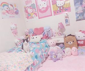 hello kitty, rilakkuma, and girly image