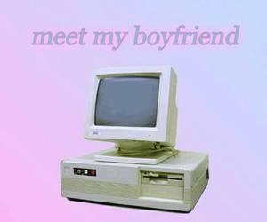 boyfriend, computer, and grunge image