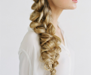 blonde, hairstyle, and whitegirl image