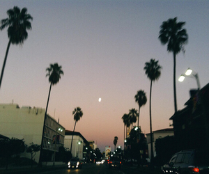 hipster, moon, and sky image