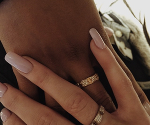 beige, champagne, and rings image