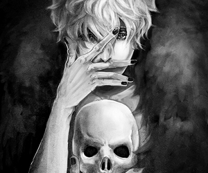 skull, anime, and boy image