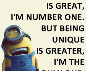 minions, unique, and numberone image