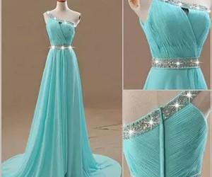 dress, blue, and elegant image