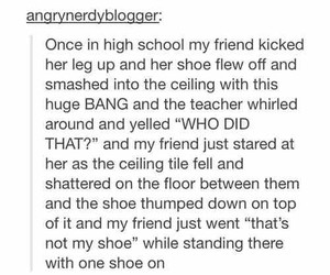 funny, tumblr, and shoe image