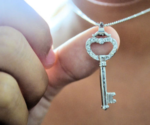 accessories, heart, and key image