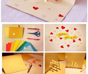 card, diy, and love image