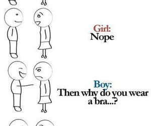 funny, boy, and girl image