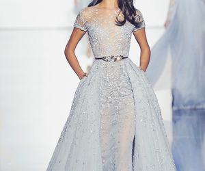 dress, blue, and model image