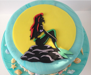 ariel, disney, and cake image