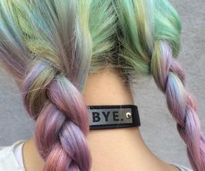 black, bye, and hair image