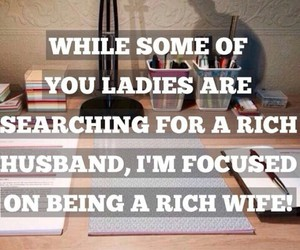 husband, rich, and wife image