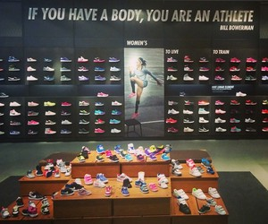 nike and running shoes image