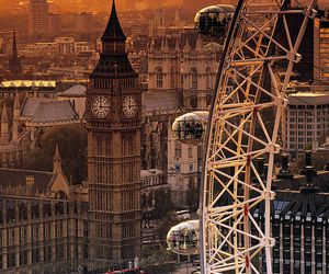 london, Big Ben, and london eye image