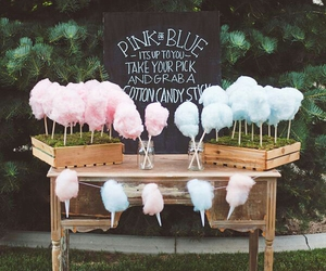 pink, blue, and cotton candy image