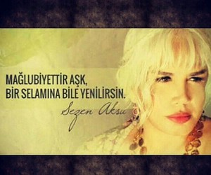 ask, sezen aksu, and turkce image