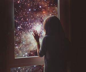 girl, magic, and sky image