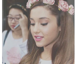 ariana grande, ariana, and flowers image