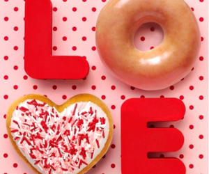 love, donuts, and food image