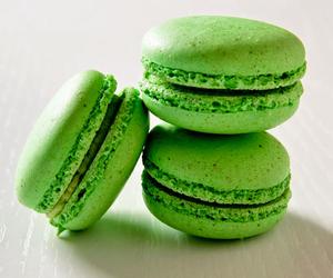 green, sweet, and macaron image