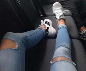 cool, jean, and shoes image