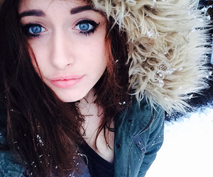 blue, brunette, and cold image
