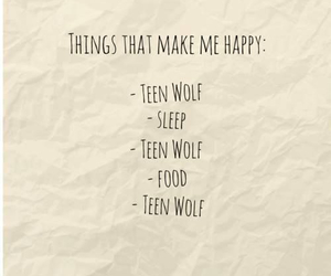 teen wolf, food, and sleep image