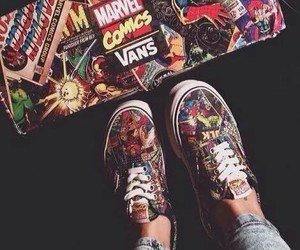 vans, Marvel, and comics image