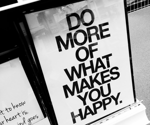 happy, quote, and black and white image