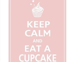 pink cupcake keep calm image