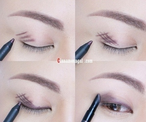 makeup, diy, and eyes image