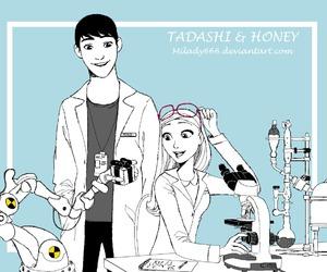 honey, tadashi, and big hero 6 image