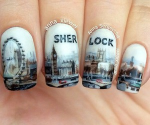 nails, sherlock, and london image