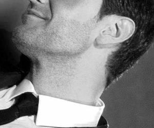 black and white, handsome, and richard armitage image
