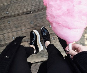 black, pink, and cotton candy image