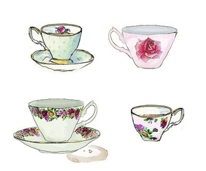 cup, art, and drawing image