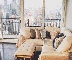 home, new york, and sofa image
