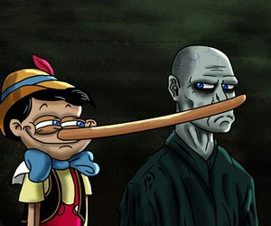 voldemort, harry potter, and nose image